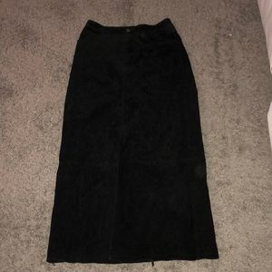 Black suede lined skirt